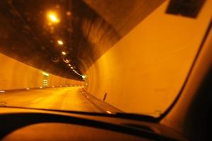 En av alla tunnlar som passerades.